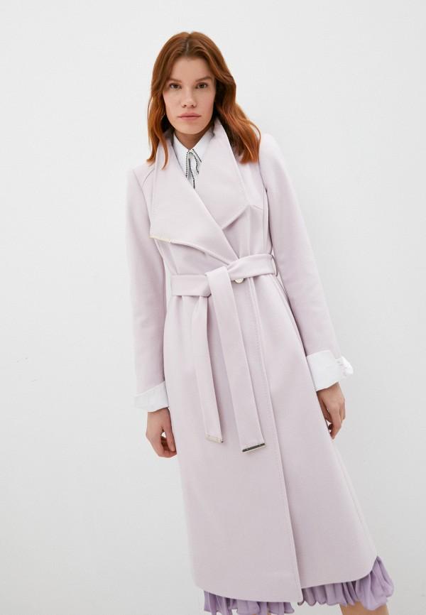 женское пальто ted baker london, розовое