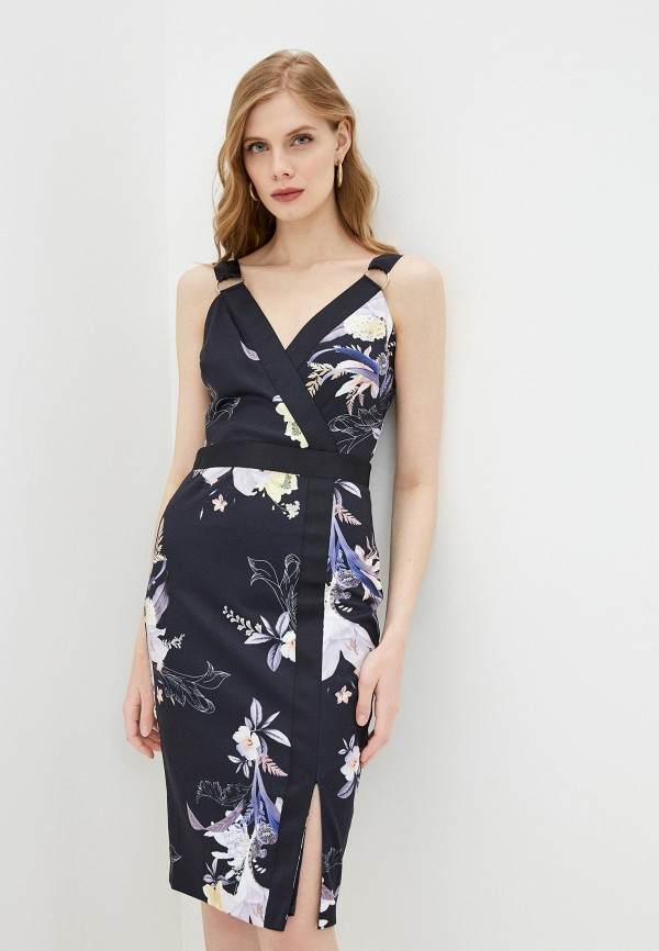 женское платье-футляр ted baker london, синее