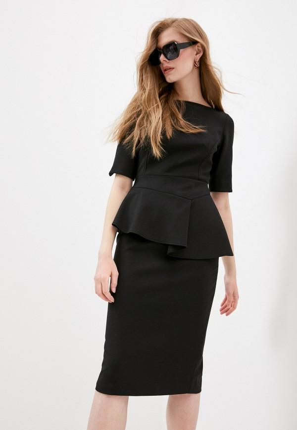 женское платье-футляр ted baker london, черное