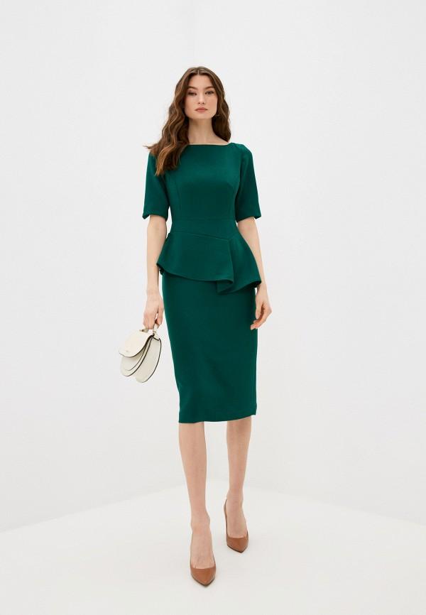 женское платье-футляр ted baker london, зеленое