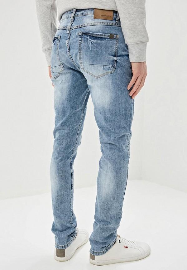 Фото 3 - мужские джинсы Terance Kole голубого цвета