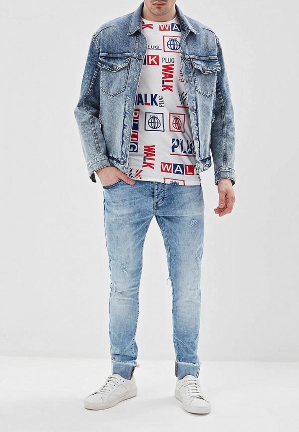 Фото 2 - мужские джинсы Terance Kole голубого цвета