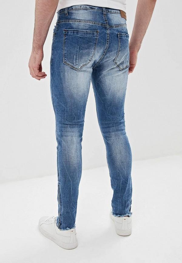 Фото 3 - мужские джинсы Terance Kole синего цвета