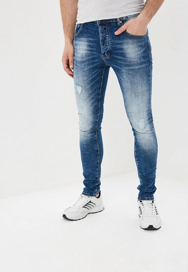 мужские зауженные джинсы terance kole, синие