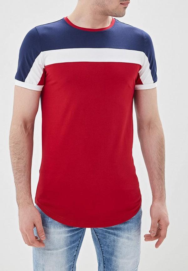 Фото - мужскую футболку Terance Kole синего цвета