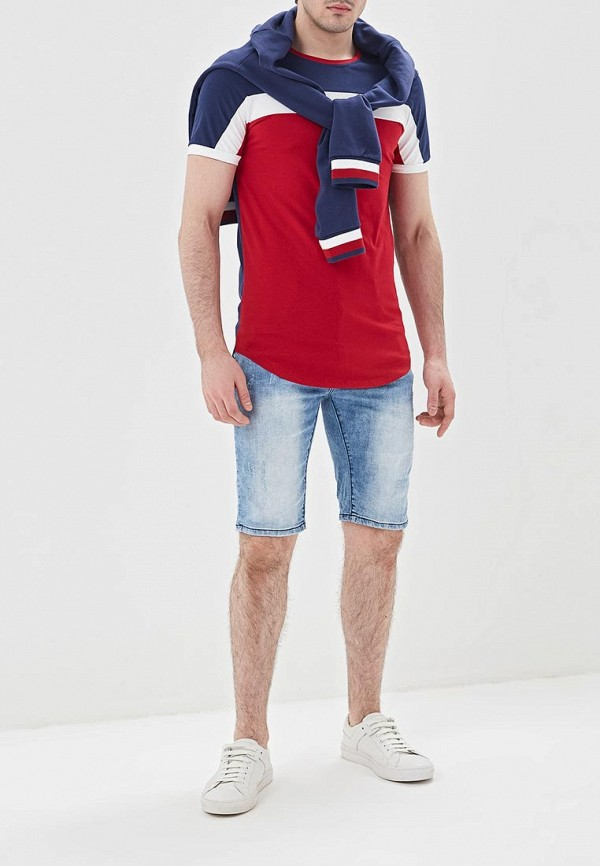 Фото 2 - мужскую футболку Terance Kole синего цвета