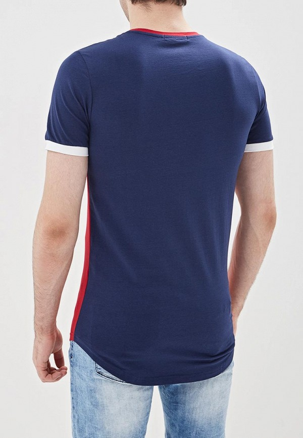 Фото 3 - мужскую футболку Terance Kole синего цвета