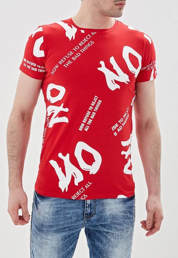 Фото - мужскую футболку Terance Kole красного цвета
