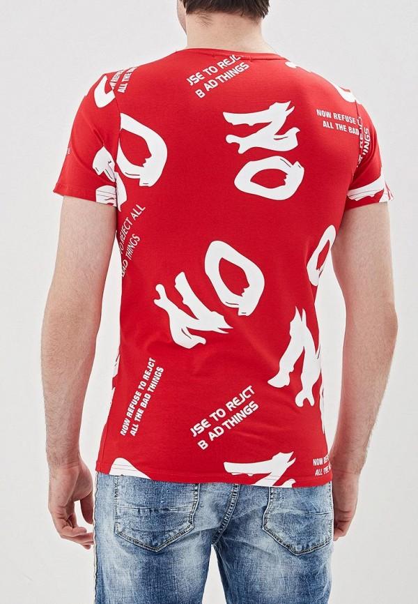 Фото 3 - мужскую футболку Terance Kole красного цвета