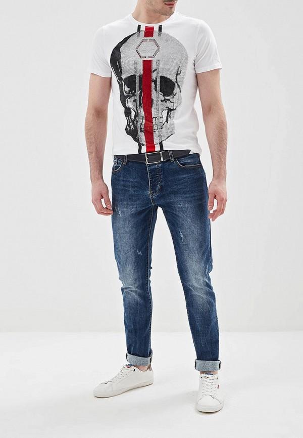 Фото 2 - мужские джинсы Terance Kole синего цвета