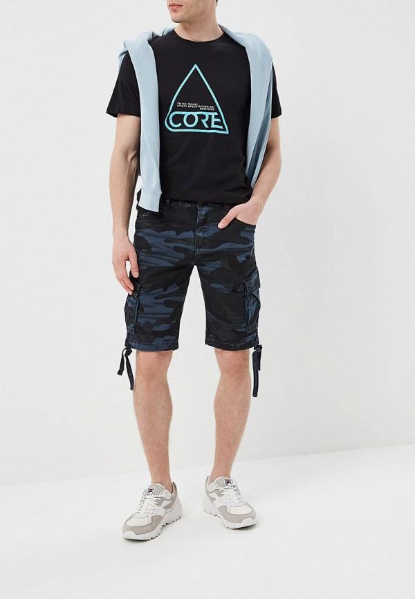Фото 2 - мужские шорты Terance Kole синего цвета