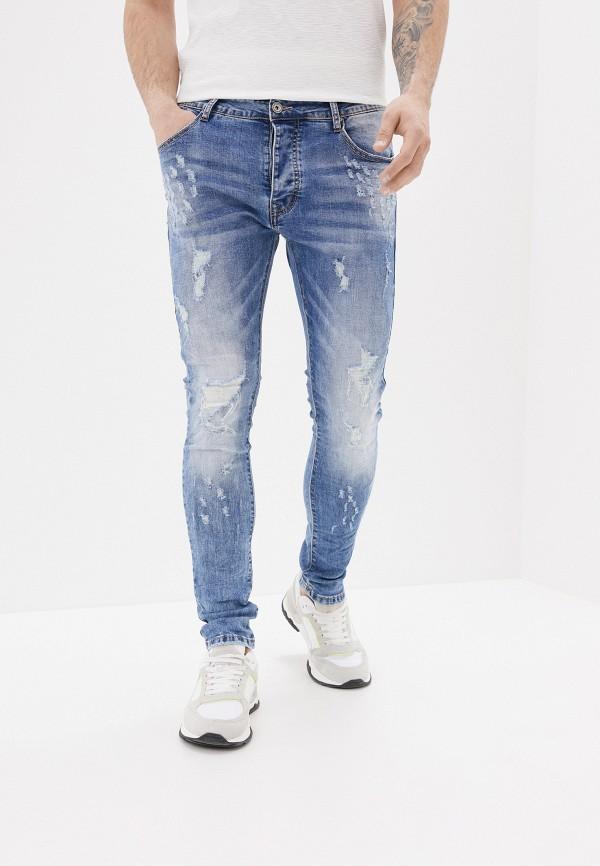 мужские зауженные джинсы terance kole, голубые