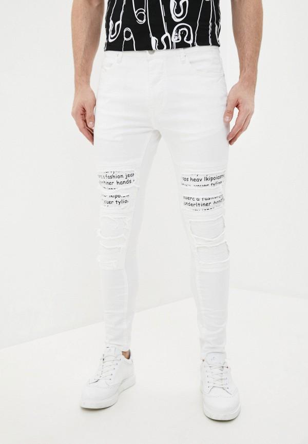 мужские зауженные джинсы terance kole, белые