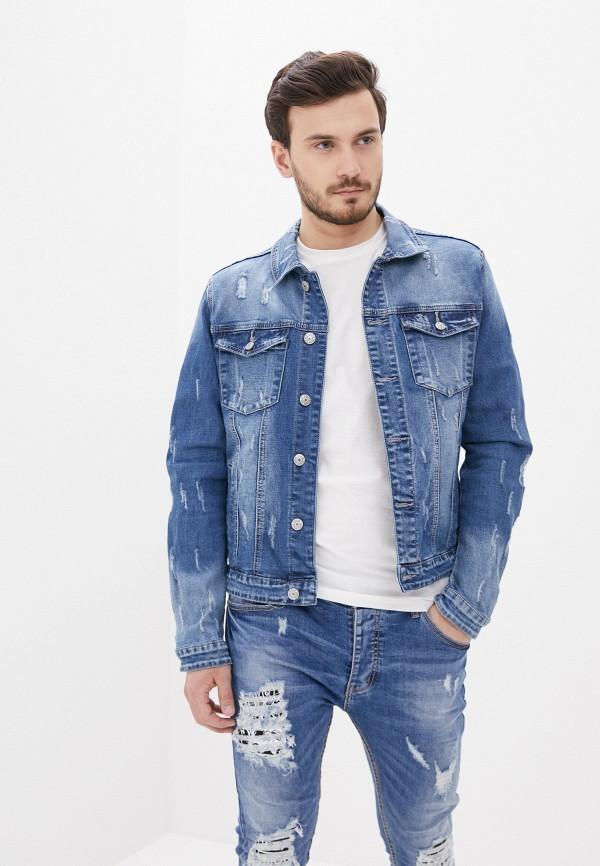 мужская джинсовые куртка terance kole, голубая