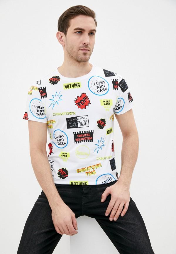 мужская футболка с коротким рукавом terance kole, белая