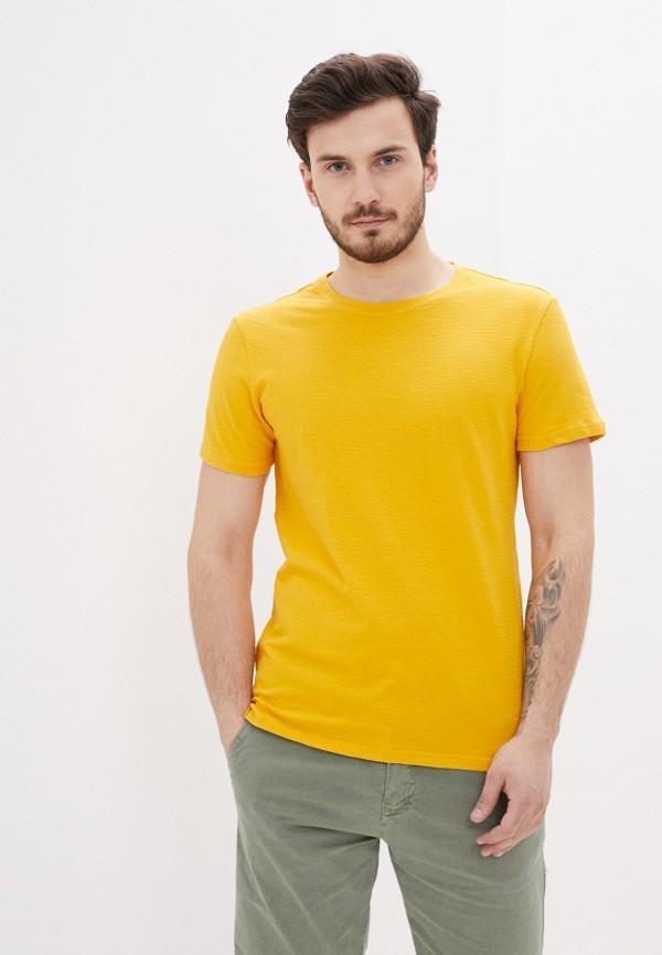 мужская футболка с коротким рукавом terance kole, желтая