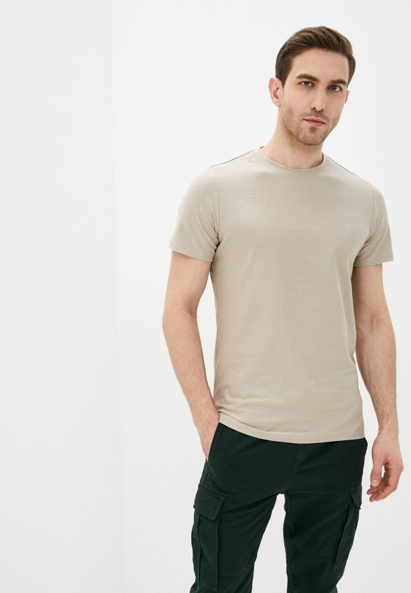 мужская футболка с коротким рукавом terance kole, бежевая