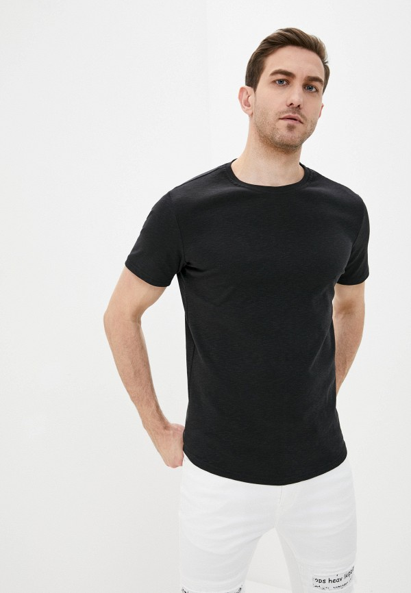 мужская футболка с коротким рукавом terance kole, черная