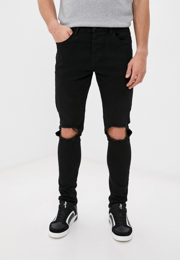 мужские зауженные джинсы terance kole, черные