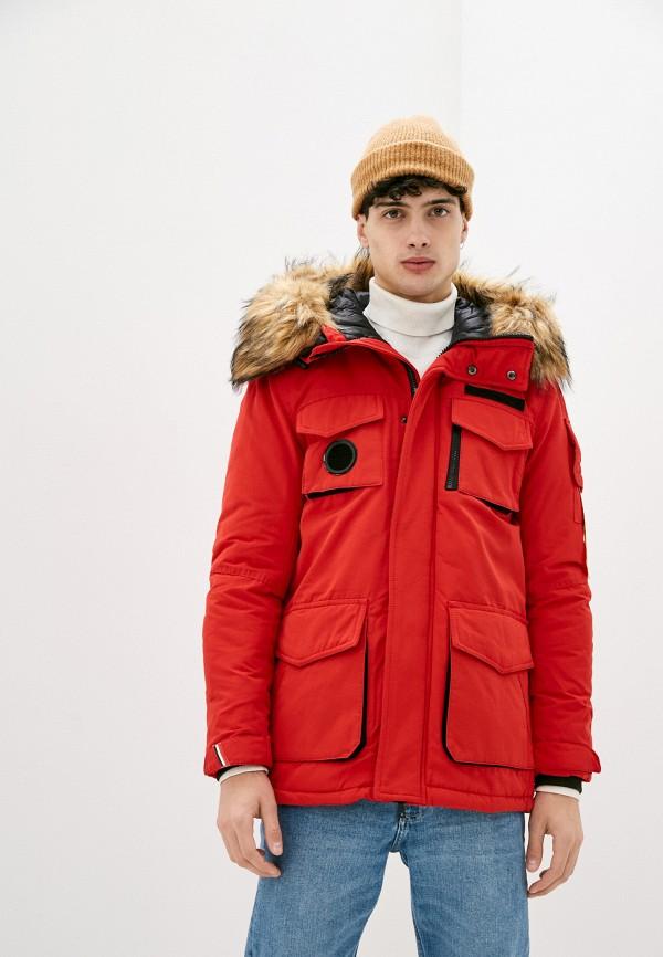 мужская куртка terance kole, красная