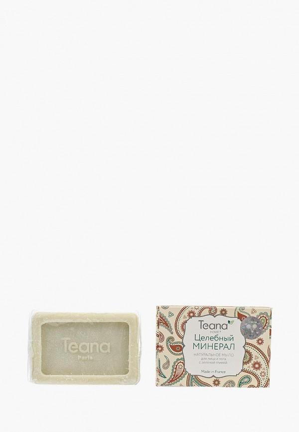 Мыло Teana натуральное для комбинированной и жирной кожи Целебный Минерал с зеленой глиной, 100 г
