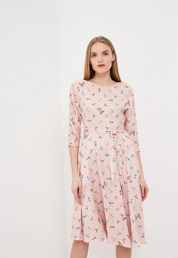 женское повседневные платье terekhov girl, розовое