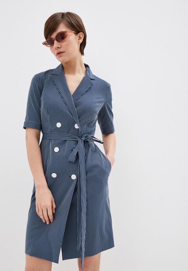 женское повседневные платье terekhov girl, синее
