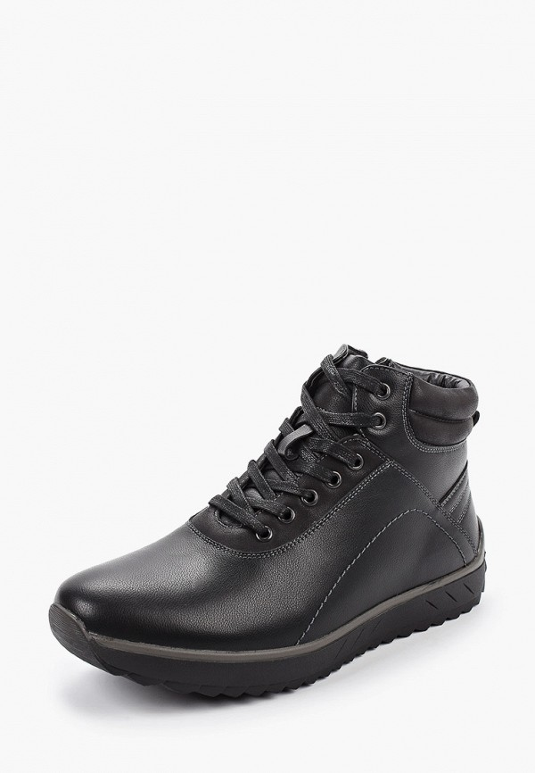 Фото 2 - мужские ботинки и полуботинки Tesoro черного цвета