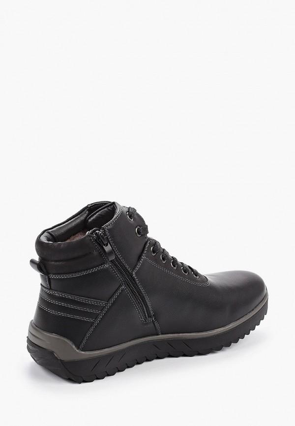 Фото 3 - мужские ботинки и полуботинки Tesoro черного цвета