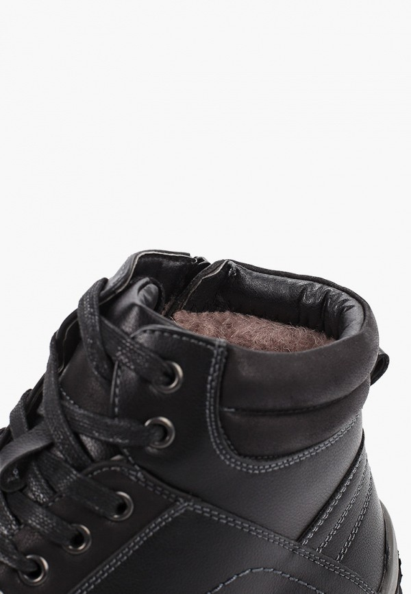 Фото 6 - мужские ботинки и полуботинки Tesoro черного цвета