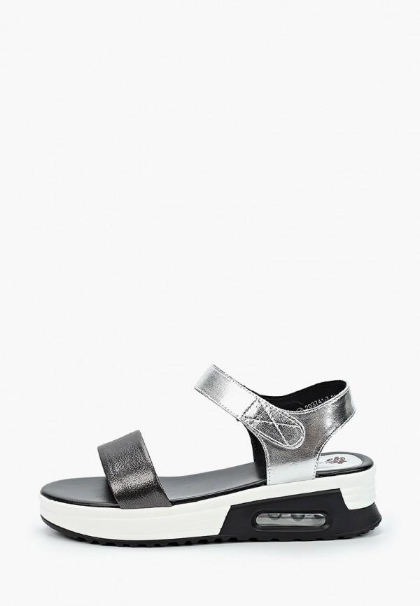женские сандалии tf's, серебряные