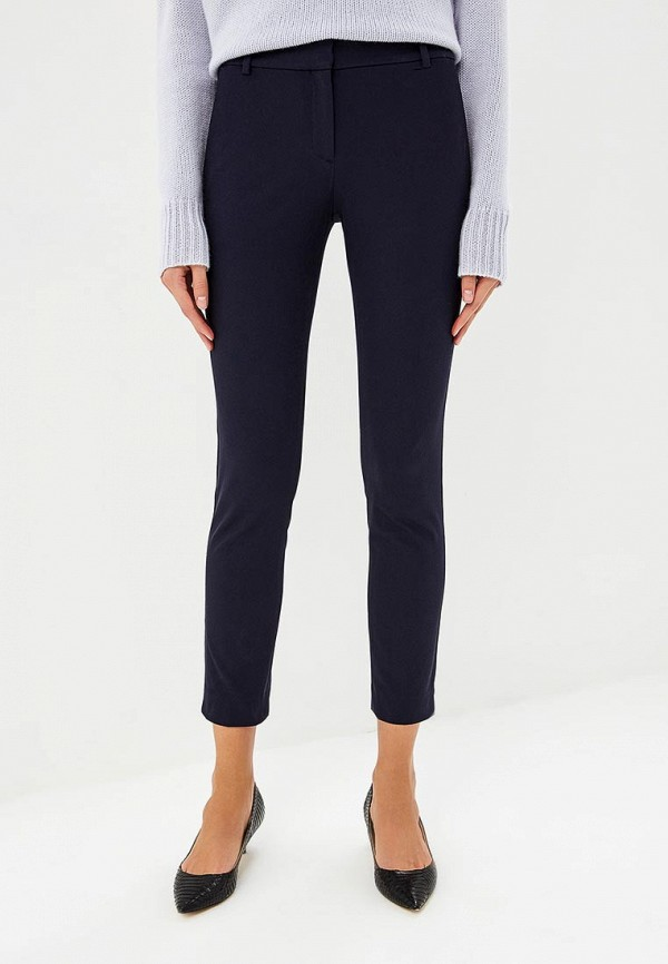 женские классические брюки theory, синие