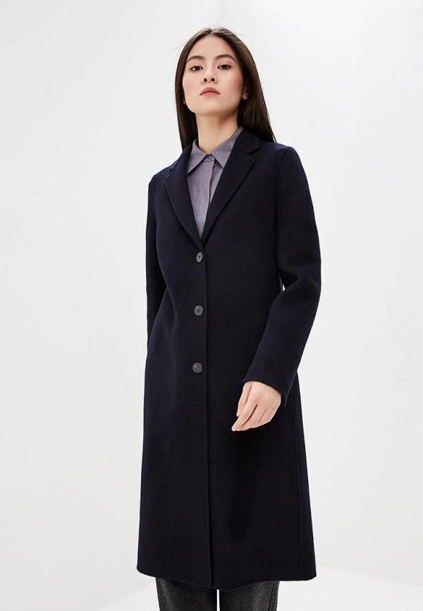 женское пальто theory, синее