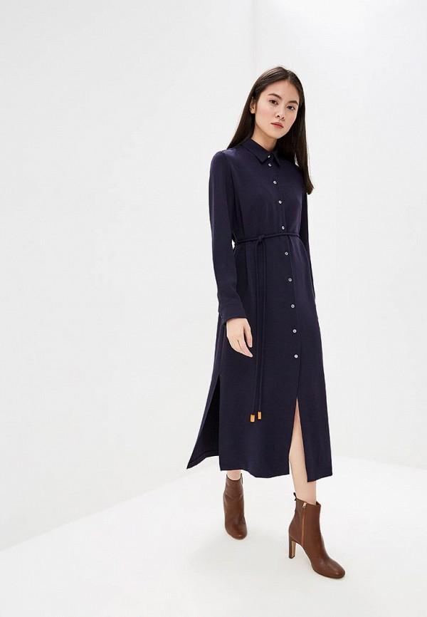 Фото - женское повседневное платье Theory синего цвета