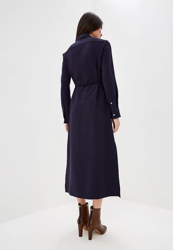 Фото 3 - женское повседневное платье Theory синего цвета