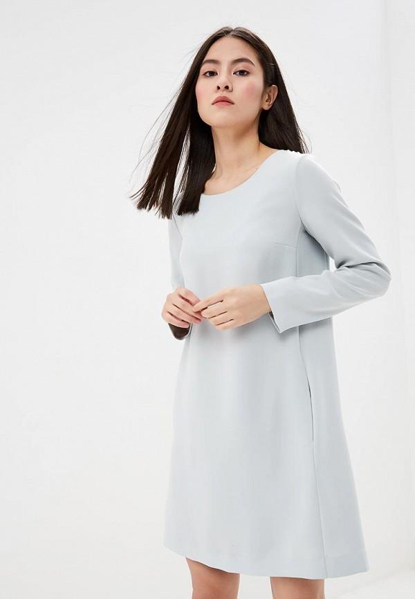 женское повседневные платье theory, голубое