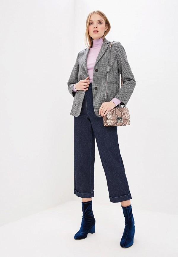 Фото 2 - женские джинсы Theory синего цвета