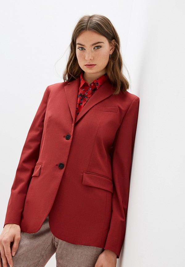 женский пиджак theory, красный
