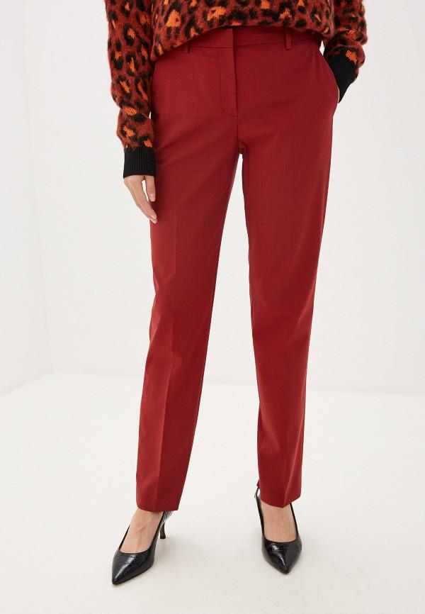 женские классические брюки theory, бордовые