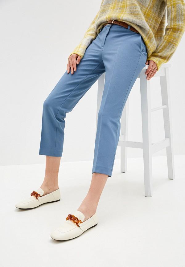 женские классические брюки theory, голубые