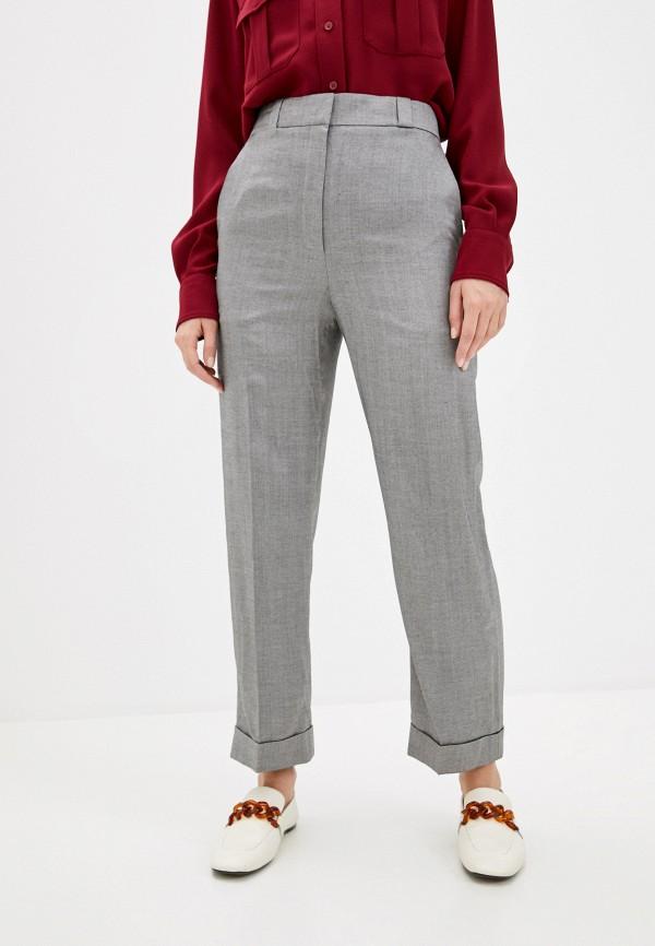 женские повседневные брюки theory, серые