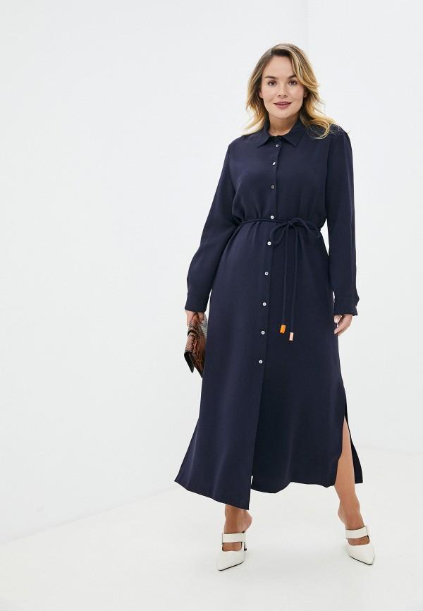 женское платье theory, синее