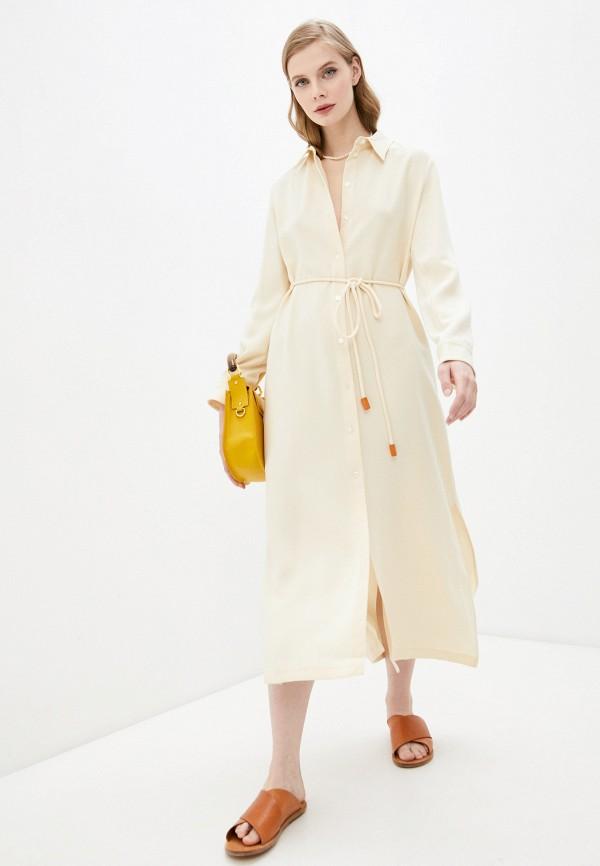женское платье theory, желтое