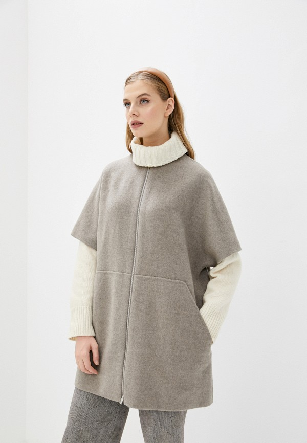 женское пальто theory, серое