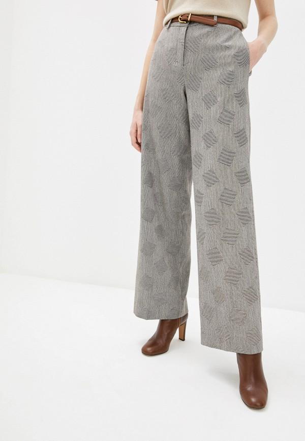 женские классические брюки theory, серебряные