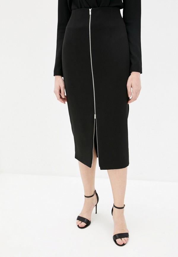 женская прямые юбка theory, черная