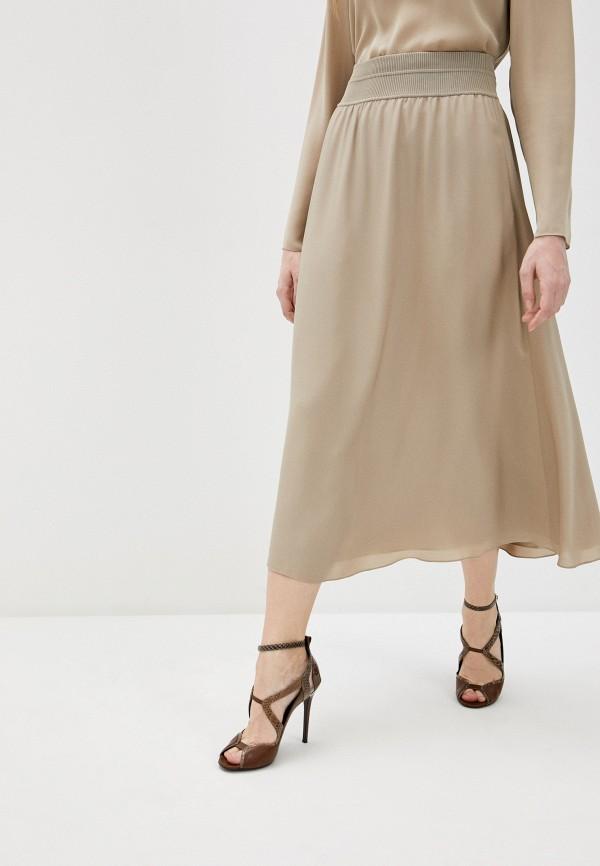 женская юбка theory, бежевая