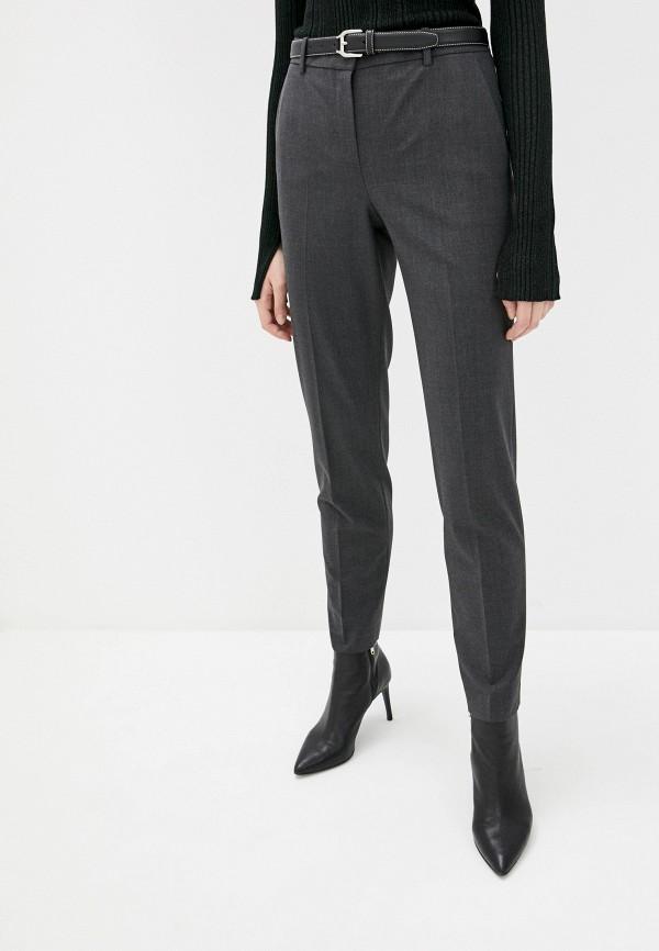 женские классические брюки theory, серые