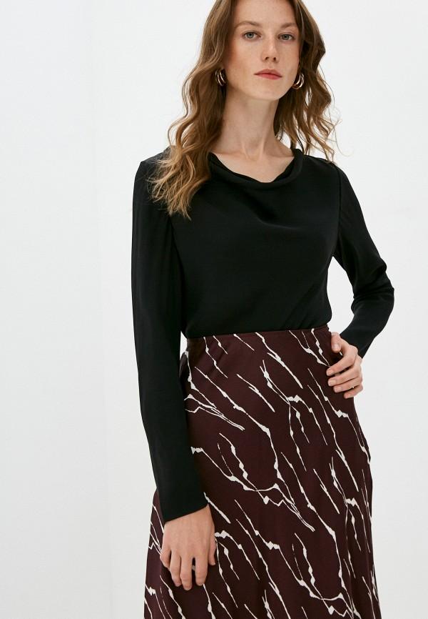 женская блузка theory, черная