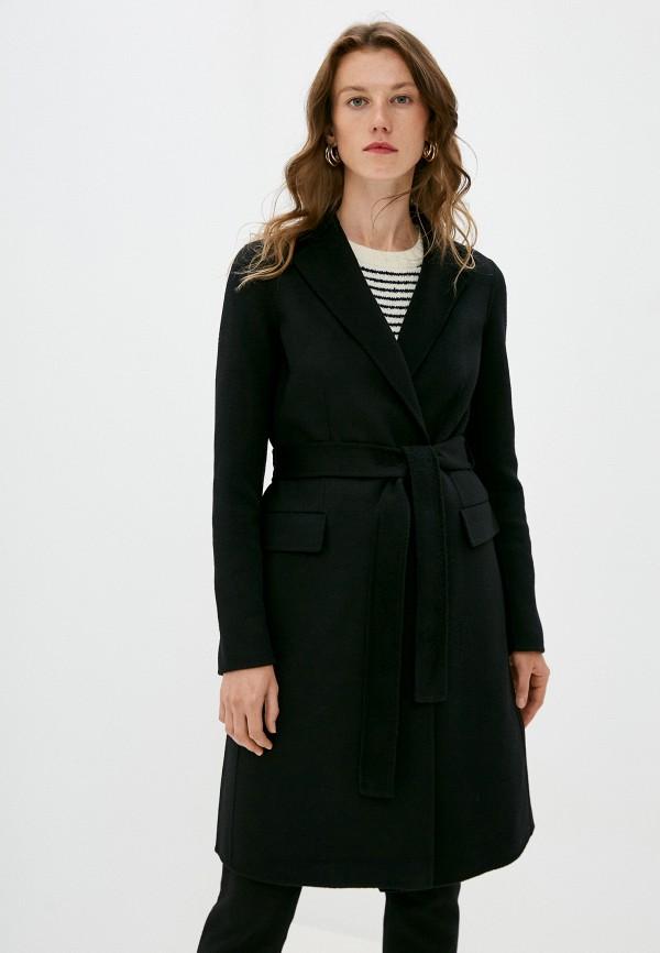женское пальто theory, черное